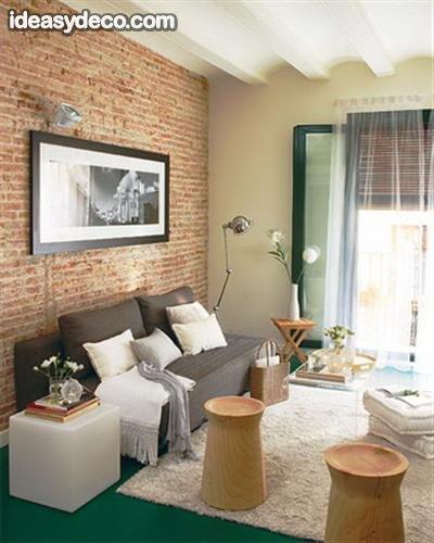 Fondos De Pared De Living Decoracion ~ pared de ladrillo visto en dise?o de interiores