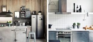 Electrodomésticos de acero inoxidable para la cocina