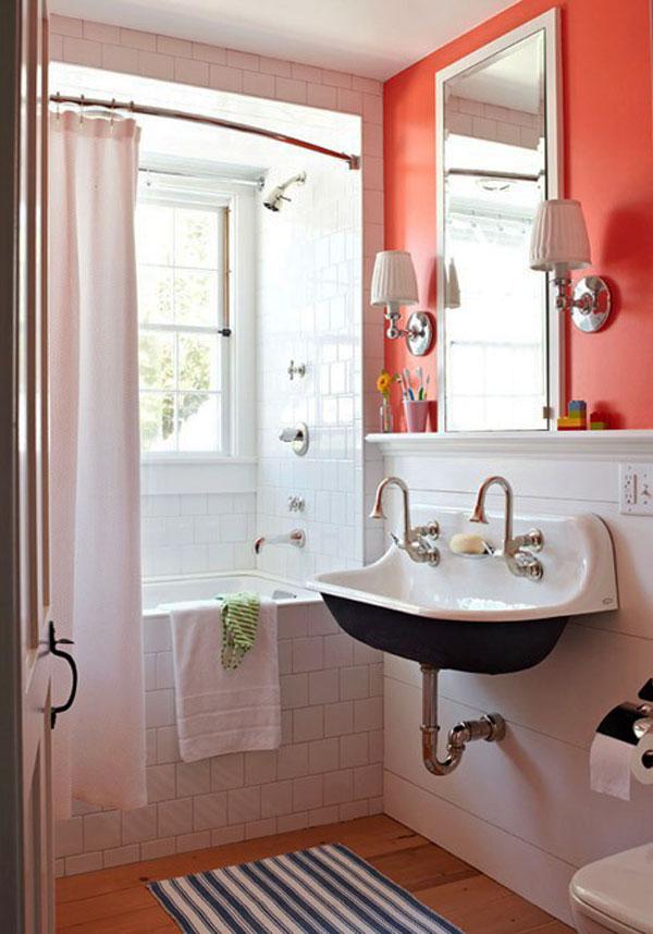 Juego De Baño Khroma:Navy and Coral Bathroom