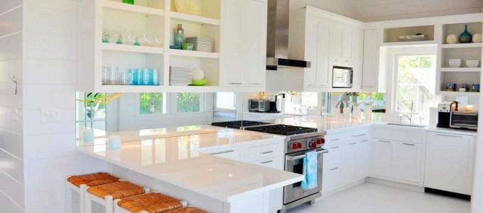 El color blanco en la cocina